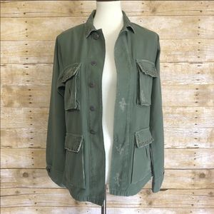 Citizens of Humanity Green Kylie Jacket Sz XS